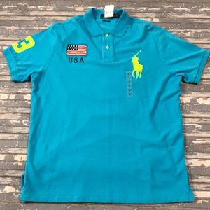 🔥 Polo By Ralph Lauren men's USA polo shirt NWT